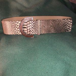 Banana Republic ASNEW FALL snakeskin leather beltS